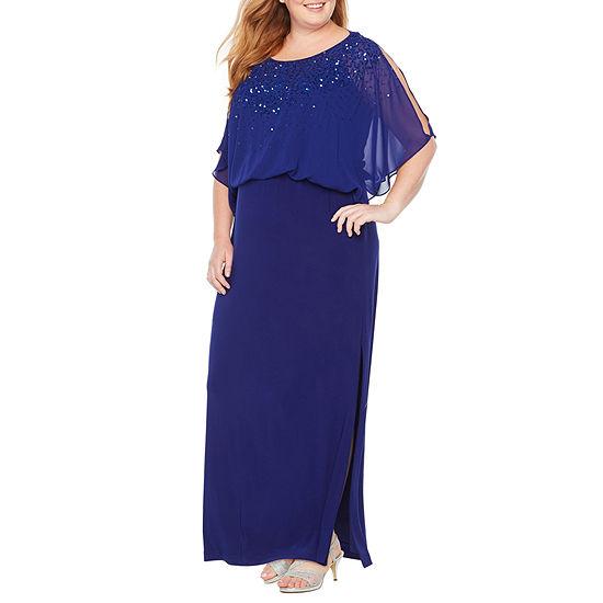 Scarlett Sleeveless Beaded Blouson Dress - Plus