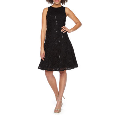 Ronni Nicole Sleeveless Sequin Lace Fit & Flare Dress