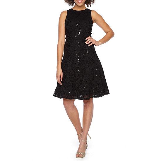 Ronni Nicole Sleeveless Sequin Lace Fit & Flare Dress