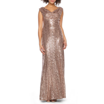 Jackie Jon Sleeveless Sequin Evening Gown