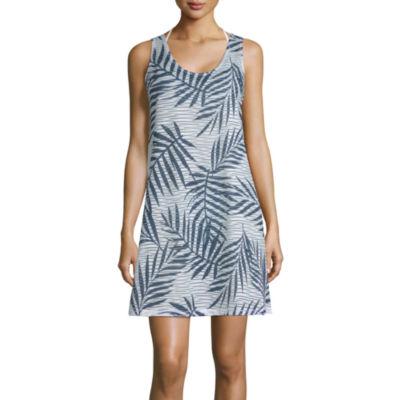 Porto Cruz Leaf Knit Swimsuit Cover-Up Dress