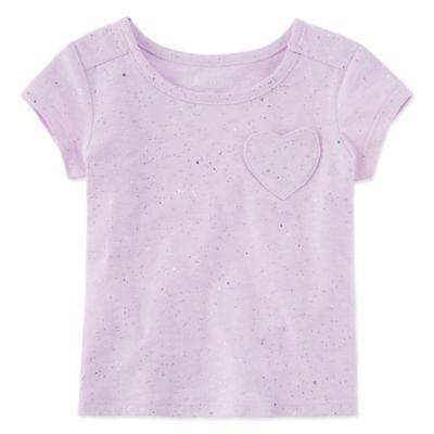 Okie Dokie Round Neck Short Sleeve T-Shirt - Baby Girls