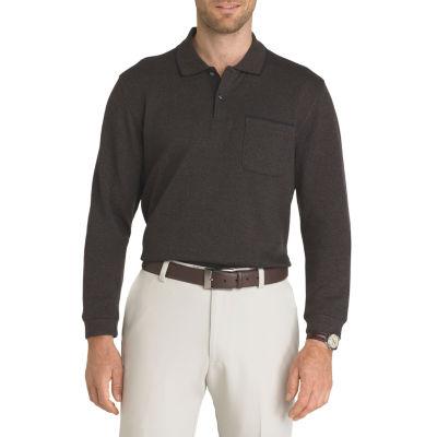 Van Heusen Long Sleeve Knit Polo Shirt