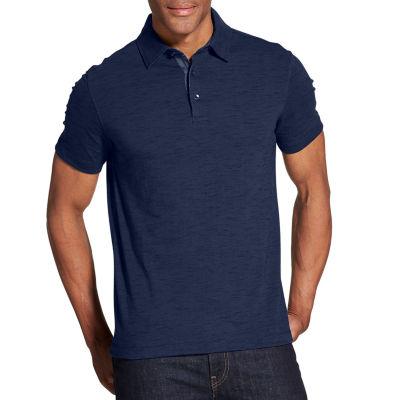 Van Heusen Van Heusen Never Tuck Polo Short Sleeve Knit Polo Shirt