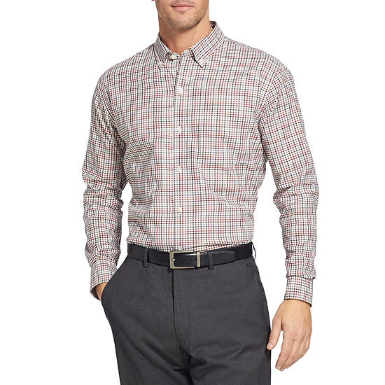 Van Heusen Slim Flex Non Iron Stretch Long Sleeve Button Down Shirt