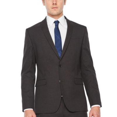 JF J.Ferrar Grid Super Slim Fit Stretch Suit Jacket