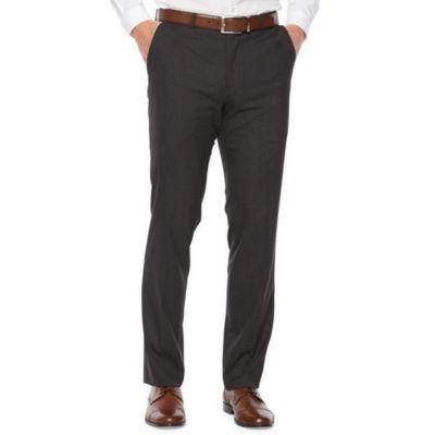 JF J.Ferrar Mens Grid Stretch Slim Fit Suit Pants