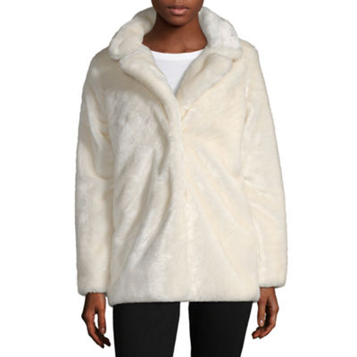 Jou Jou Faux Fur Heavyweight Overcoat Juniors