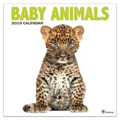 TF Publishing 2019 Baby Animals Wall Calendar
