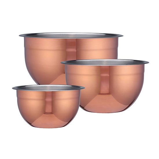 Tramontina Limited Editions 3 Pk Copper Mixing Bowls
