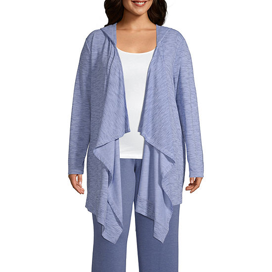 St. John's Bay Active Hooded Cardigan - Plus