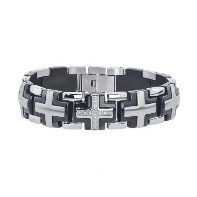 Stainless Steel 8 1/2 Inch Solid Link Bracelet