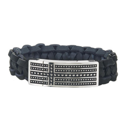 Stainless Steel 8 1/2 Inch Solid Id Bracelet