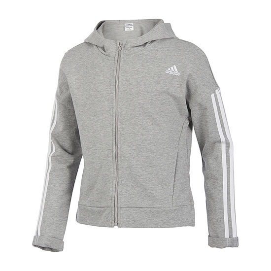 adidas Girls Lightweight Cropped Jacket Big Kid