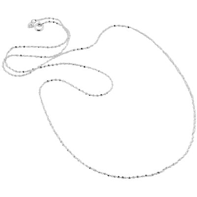"""Made in Italy Sterling Silver 20"""" 1mm Twisted Serpentine Chain"""