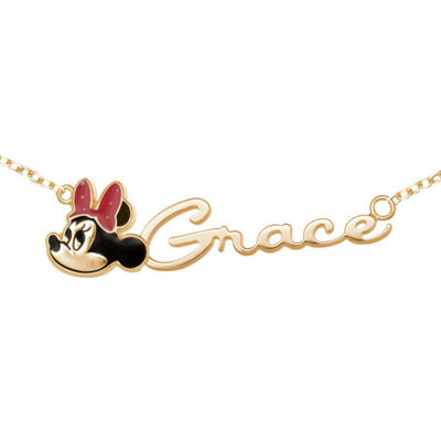 Disney Personalized Girls Minnie Mouse Name Necklace