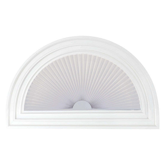 "Home Expressions Arch 1"" Linen Pleated Shade - FREE SWATCH"