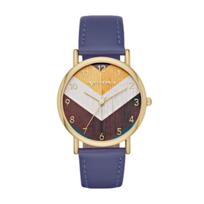 Arizona Womens Blue Strap Watch-Fmdarz130
