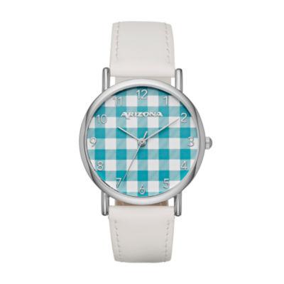 Arizona Womens Silver Tone Strap Watch-Fmdarz136