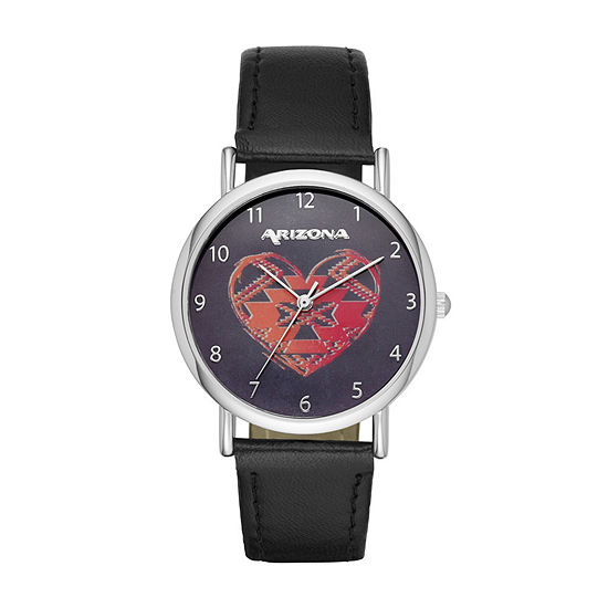 Arizona Womens Black Strap Watch-Fmdarz138