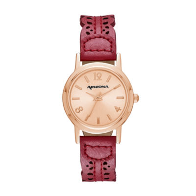 Arizona Womens Red Strap Watch-Fmdarz142