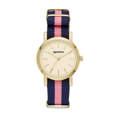 Arizona Womens Pink Strap Watch-Fmdarz152
