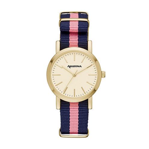 Arizona Womens Pink Strap Watch-Fmdarz152