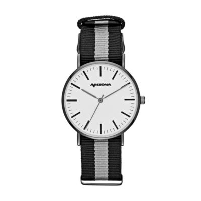 Arizona Mens Black Strap Watch-Fmdarz537