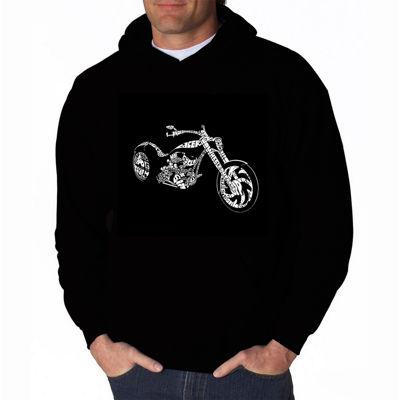 Los Angeles Pop Art Motorcycle Long Sleeve Word Art Hoodie