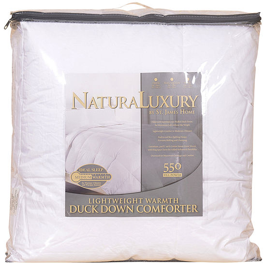 St. James Home Lightweight White Duck Down Comforter