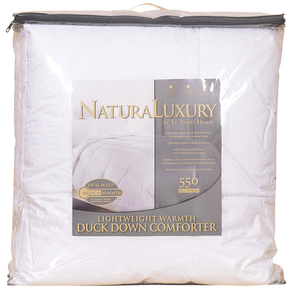 St. James Home Lightweight White Duck Down Comforter