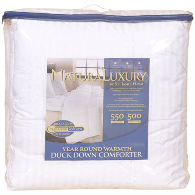 St. James Home All Season Cotton White Duck Down Comforter