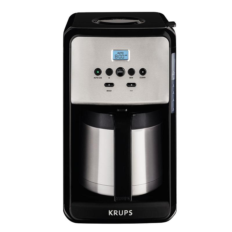 Krups Savoy 12 Cup Thermal Carafe Coffee Maker, Black - Unisex - Coffee + Tea - Coffee Makers