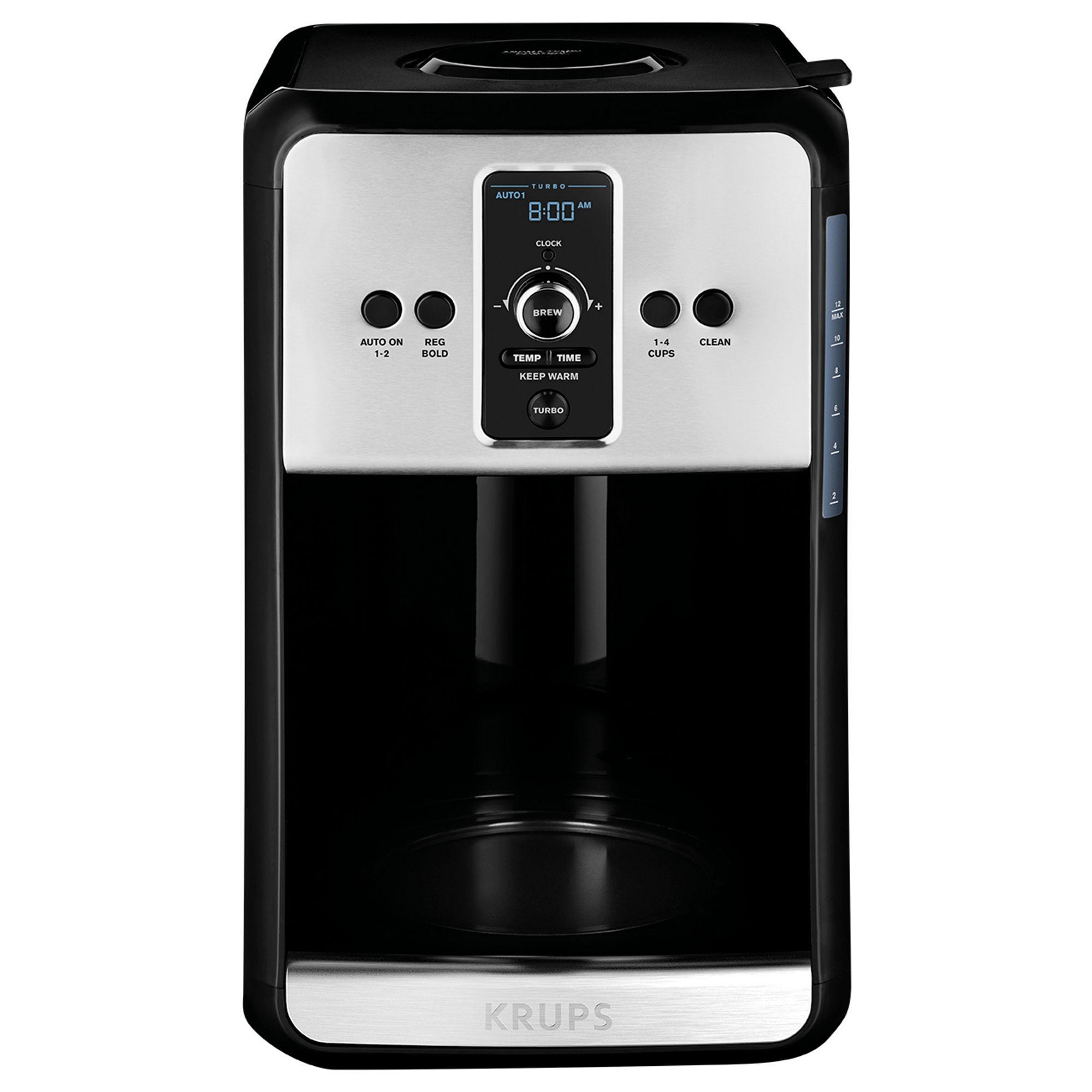 Krups, Turbo Savoy, EC411050, Programmable Filter Coffee Machine, Black