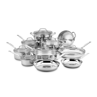 Cuisinart 17-pc. Stainless Steel Dishwasher Safe Cookware Set