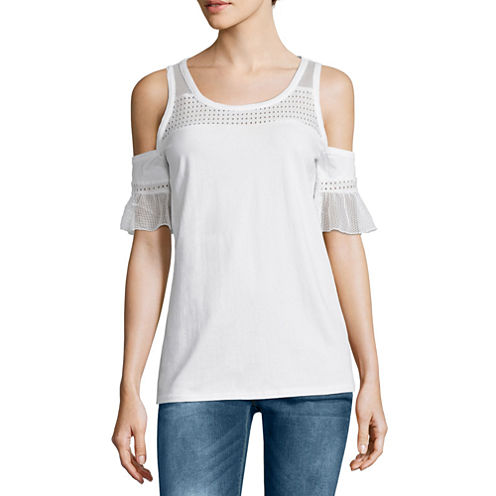 i jeans by Buffalo 3/4 Sleeve Cold Shoulder Top