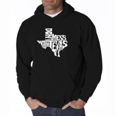 Los Angeles Pop Art Dont Mess With Texas Long Sleeve Word Art Hoodie
