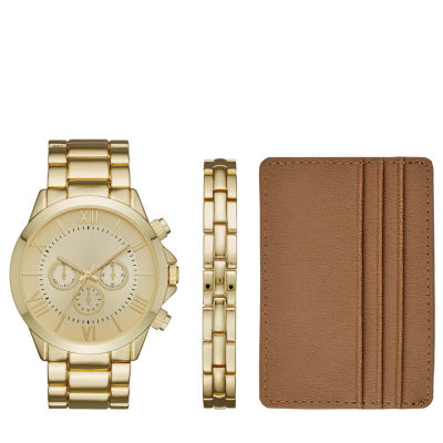 Mens Gold Tone 3-pc. Watch Boxed Set-Fmdjset526