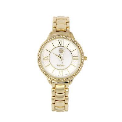 Daisy Fuentes Womens Gold Tone Bracelet Watch-Df101gdwt