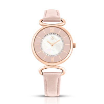Daisy Fuentes Womens Pink Strap Watch-Df108rglp