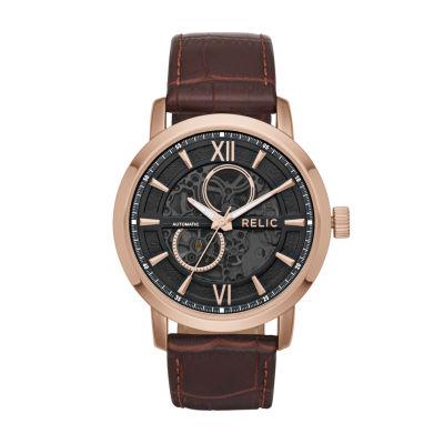 Relic Mens Black Bracelet Watch-Zr77284