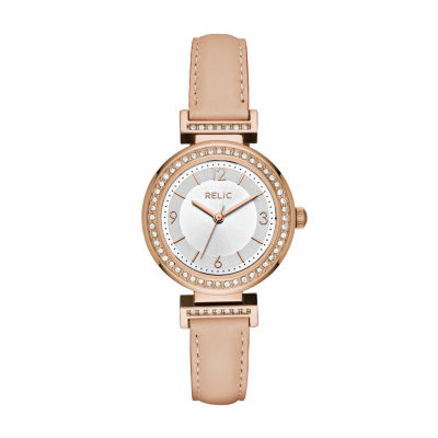 Relic Womens Pink Strap Watch-Zr12236
