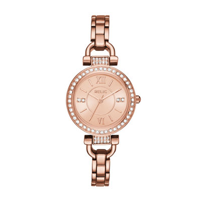 Relic Womens Rose Goldtone Bracelet Watch-Zr34415
