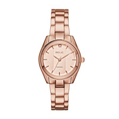 Relic Womens Rose Goldtone Bracelet Watch-Zr34419