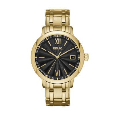 Relic Mens Gold Tone Bracelet Watch-Zr77289