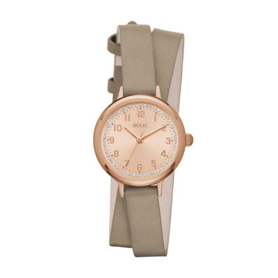 Relic Womens Gray Strap Watch-Zr12225