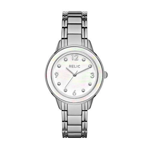 Relic Womens Silver Tone Bracelet Watch-Zr34408