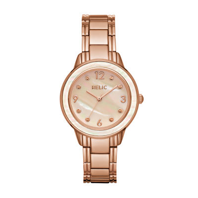 Relic Womens Rose Goldtone Bracelet Watch-Zr34410