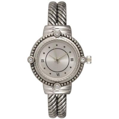 Olivia Pratt Womens Silver Tone Strap Watch-15791silver