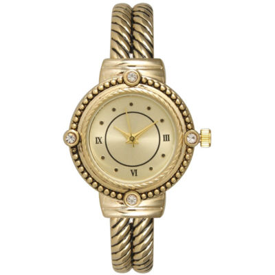 Olivia Pratt Womens Gold Tone Strap Watch-15791gold